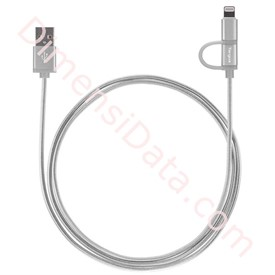 Jual Charge Lightning Cable Targus 2-in-1 Silver [ACC99505AP]